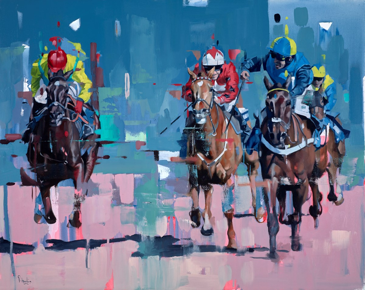 And... Across the Line by pete hawkins -  sized 39x32 inches. Available from Whitewall Galleries